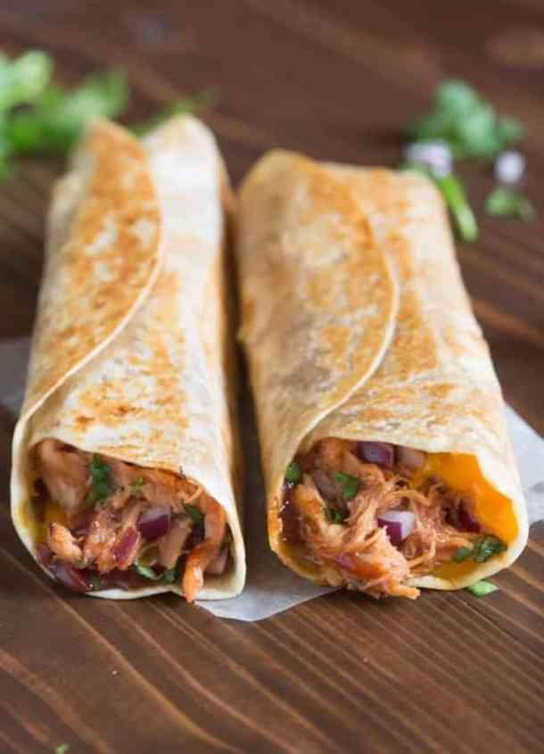 Crispy BBQ Chicken Wraps Recipe