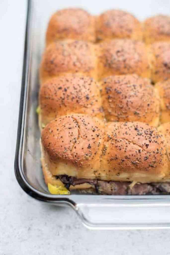 Italian roast Beef Sliders recipe