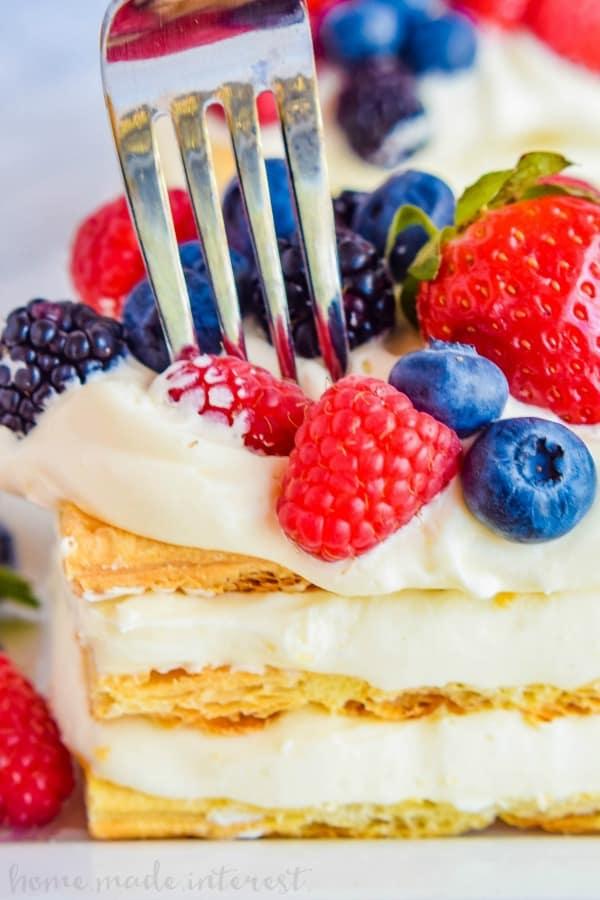 Lemon Berry Napoleon recipe
