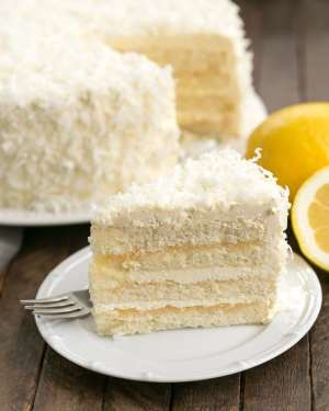 Lemon Layer Cake with Lemon Curd Filling