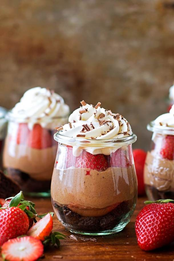 No Bake Nutella Brownie Cheesecakes