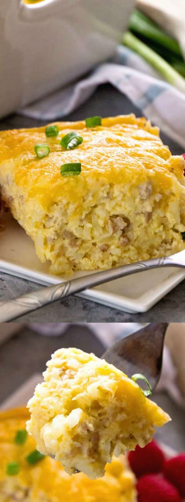 Sausage Cheese Hash Brown Breakfast Casserole Longpin