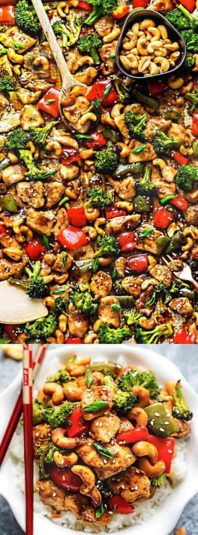 Sheet Pan Cashew Chicken Longpin