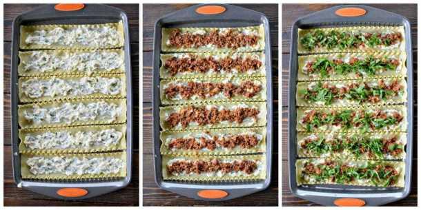 Three Cheese Lasagna Roll Ups recipe