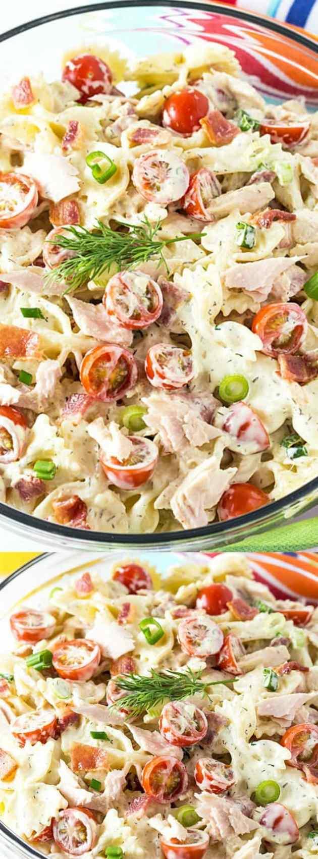 Tuna And Bacon Pasta Salad Longpin