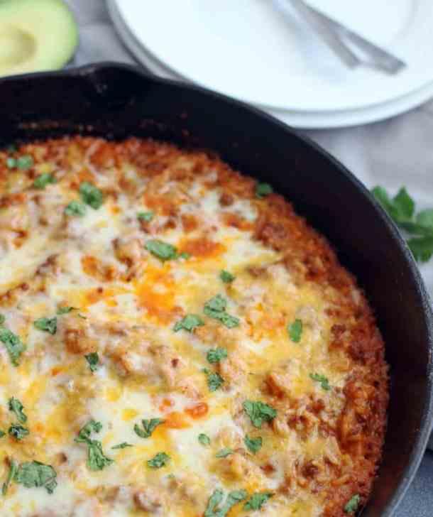 cheesy taco skillet dinner recipe