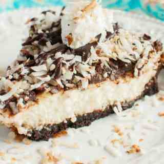 Toasted Coconut Fudge Cheesecake