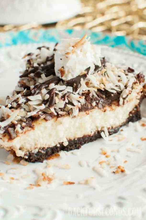 toasted coconut fudge cheesecake