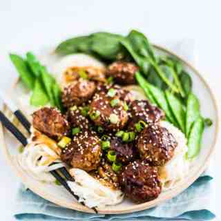 Asian Turkey Meatballs In Brown Sauce