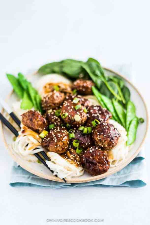 Asian Turkey Meatballs In Brown Sauce