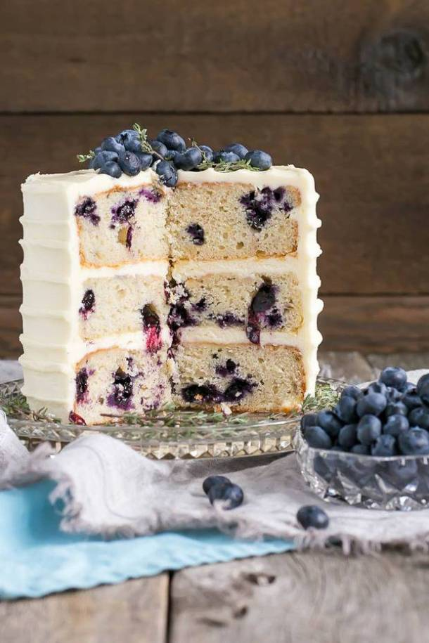 Blueberry Banana Cake with Cream Cheese Frosting recipe
