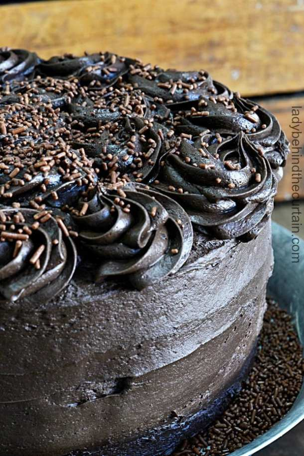 Devil's Food Cake with a Cheesecake Center recipe