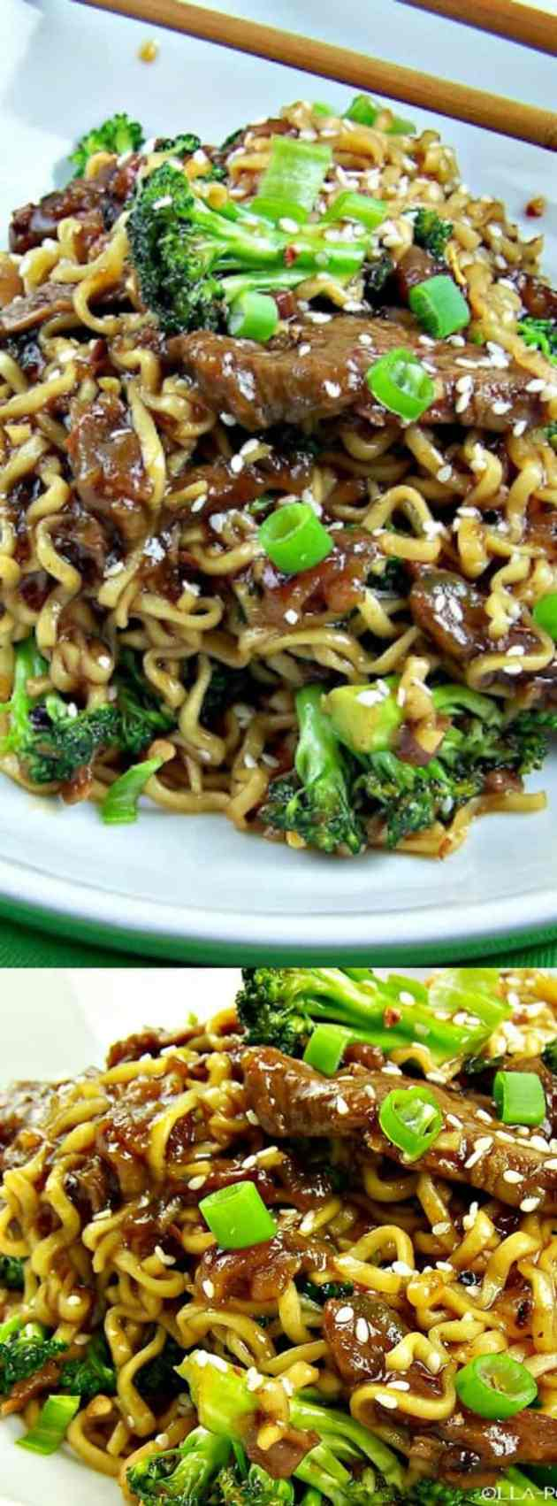 Easy One-Skillet Beef and Broccoli Ramen longpin