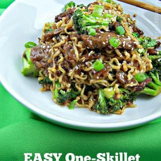Easy One-Skillet Beef and Broccoli Ramen
