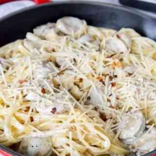Fettuccine Alfredo with Chicken Sausage