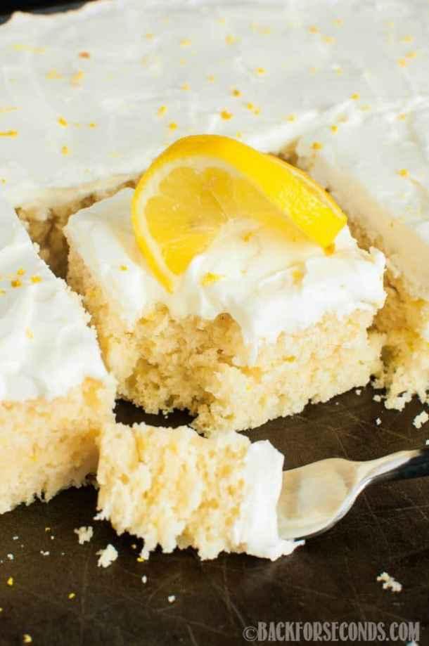 Lemon Sheet Cake with Lemon Cream Cheese Frosting
