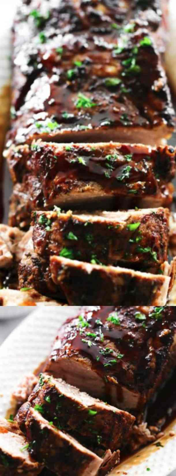 Slow Cooker Balsamic Glazed Pork Tenderloin