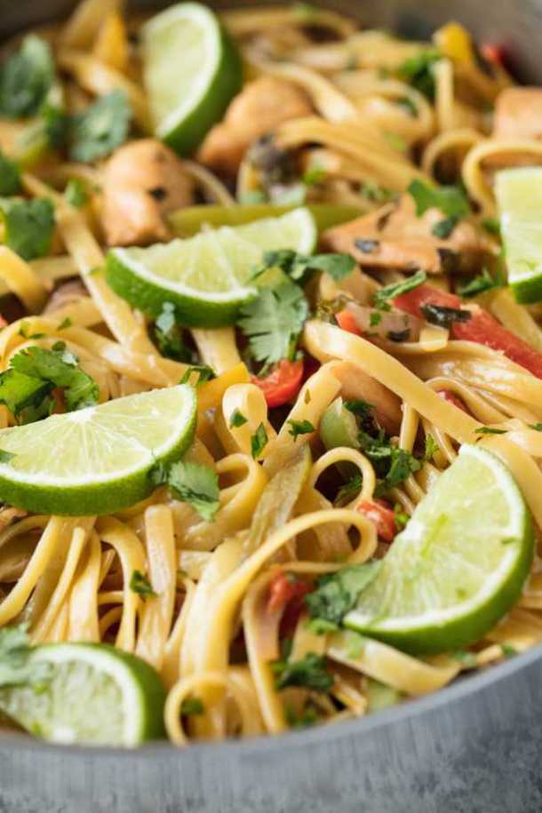 Tequila Lime Chicken Pasta recipe
