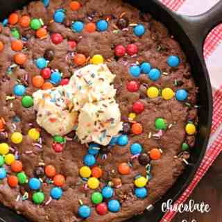 Chocolate Birthday Skillet Cookie
