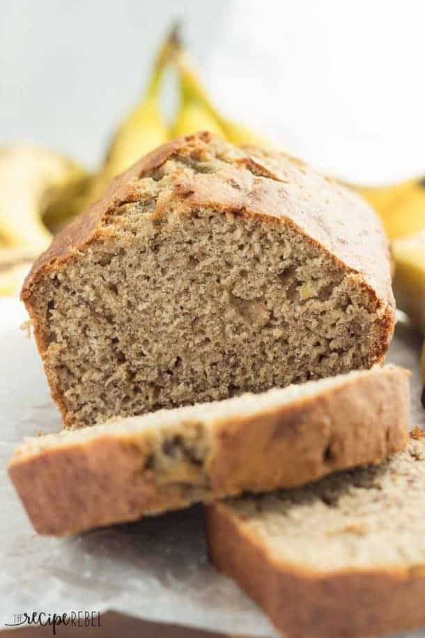 Healthier Classic Banana Bread is made healthier with whole wheat flour, applesauce and plain Greek yogurt! It's super moist, perfect every time banana bread that's good for you, too! Freezer-friendly and made in one bowl with no mixer.