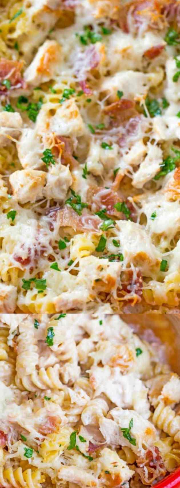 Chicken Bacon Ranch Pasta Bake Longpin