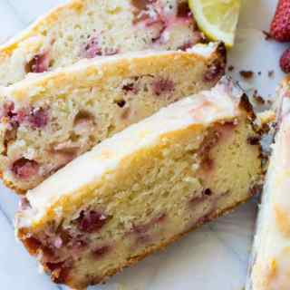 Glazed Strawberry Lemon Loaf