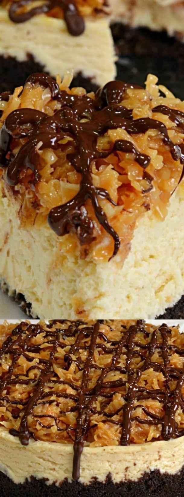 Instant Pot Samoa Cheesecake
