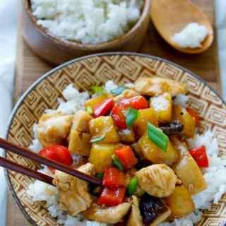Sheet Pan Stir-Fried Chicken Teriyaki with Pineapple