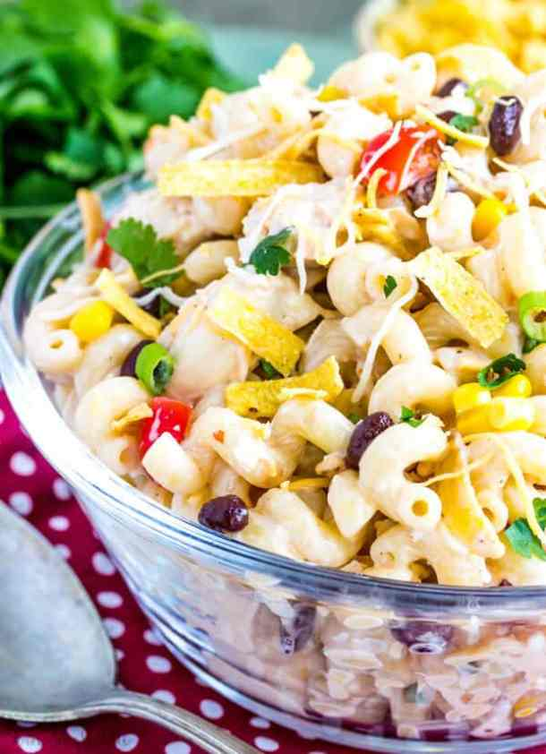Southwest Chicken Pasta Salad -- part of The Best Picnic and Potluck Recipes