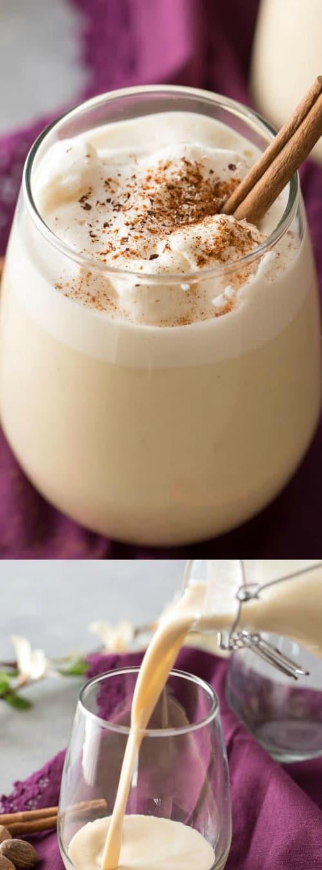 5 Minute Homemade Blender Eggnog