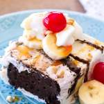 Banana Split Ice Cream Sandwich Cake