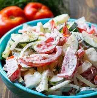 Creamy Tomato and Cucumber Salad