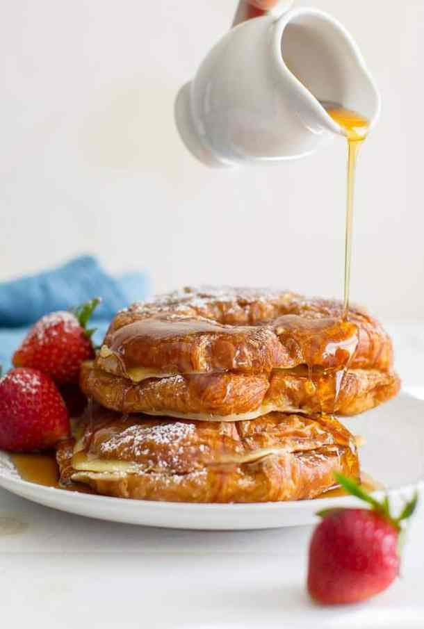 Croissant French Toast--Part of The Best French Toast Recipes