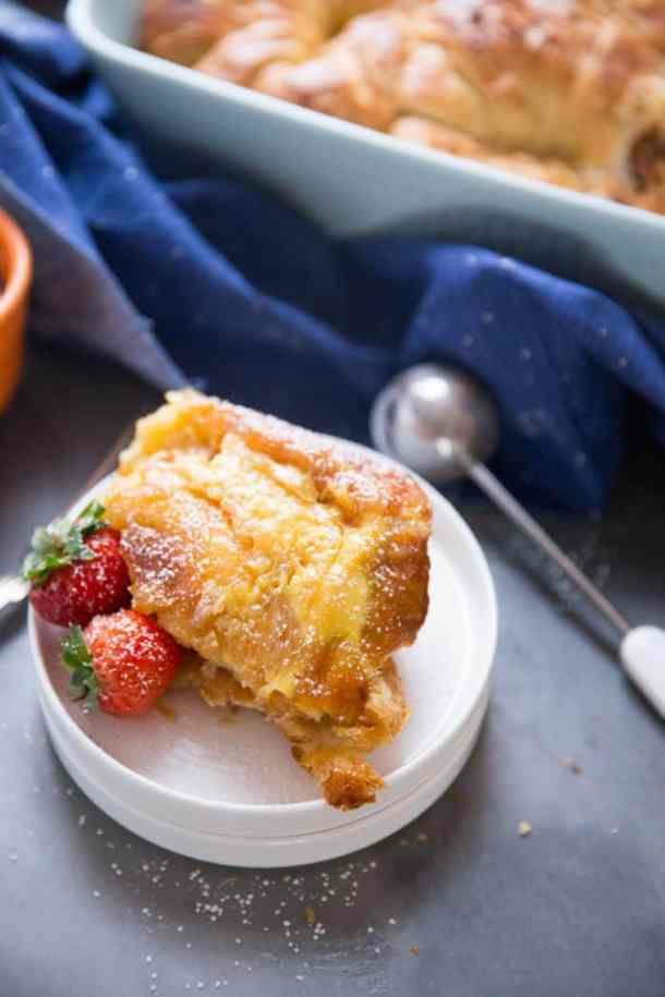 Easy Croissant French Toast Bake--Part of The Best French Toast Recipes