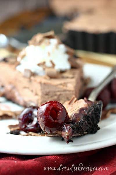 Frozen Chocolate Mousse Cherry Pie Recipe