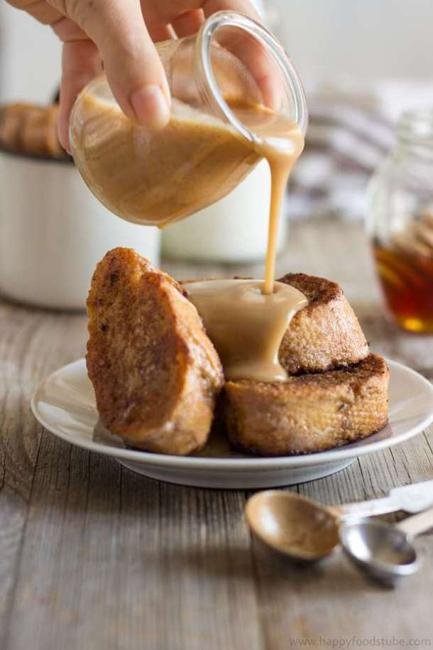 Gingerbread French Toast with Cinnamon Honey Sauce--Part of The Best French Toast Recipes