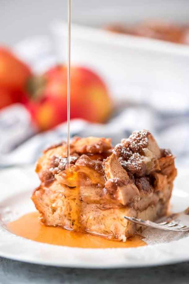 Overnight Cinnamon Apple French Toast Casserole--Part of The Best French Toast Recipes