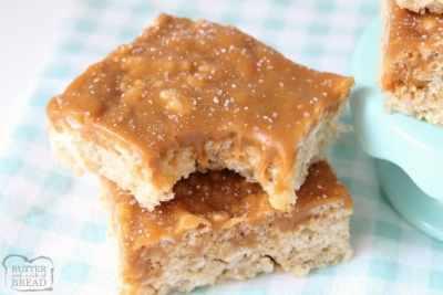 Salted Caramel Rice Krispie Squares