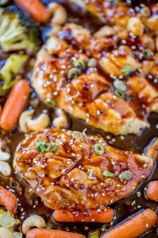 Sheet Pan Cashew Chicken and Vegetables