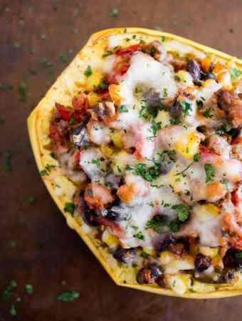 Southwest Taco Stuffed Spaghetti Squash