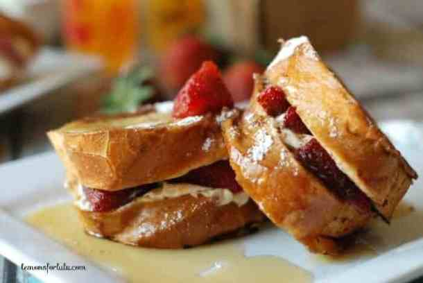 Strawberry Cheesecake French Toast--Part of The Best French Toast Recipes