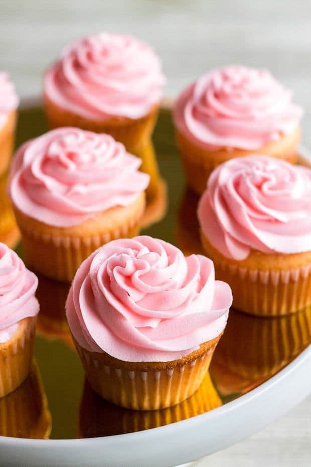 Pink Asti Cupcakes are a sweet treat that's perfectfor celebrating Valentine's Day, bridal showers, or Mother's Day! Spiked with Asti sparkling wine, these cupcakes are deliciously hard to resist!
