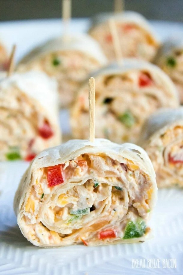 MEXICAN PINWHEELS RECIPE--part of 20+ Easy Weeknight Mexican Chicken Dinner Recipes