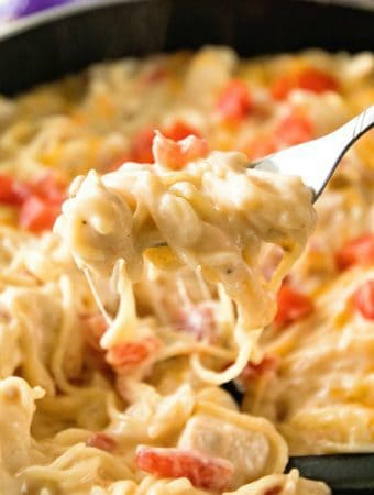 Cheesy-One-Pot-Mexican-Spaghetti-Fork