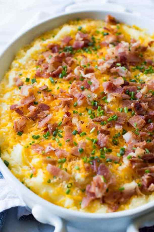 Mashed Potato Casserole -- part of Loaded Potato Recipes that make the PERFECT Dinner Side Dish