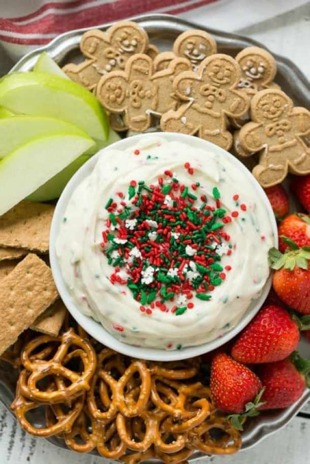 Christmas Cookie Dough Dip -- Part of Fun and Festive Christmas Desserts