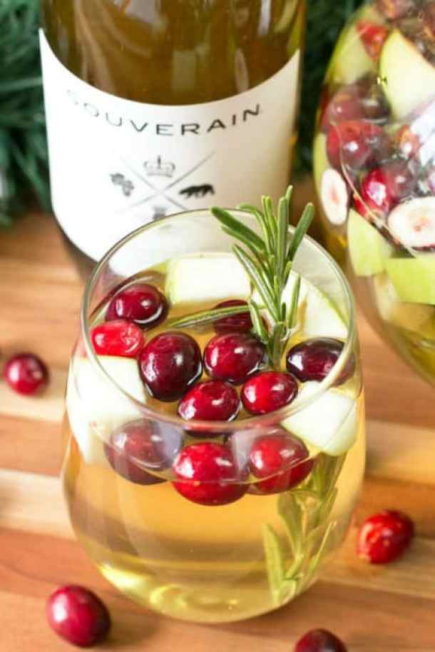 Christmas Sangria -- Part of Fun and Festive Christmas Desserts