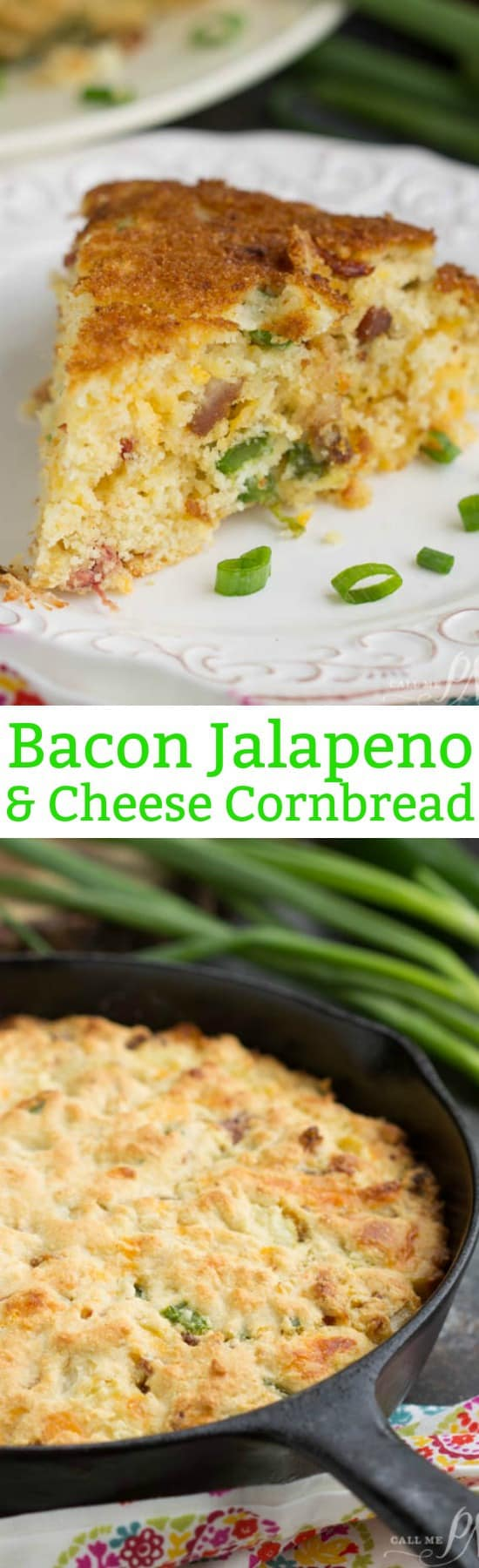Cheesy Jalapeno Bacon Skillet Cornbread Recipe