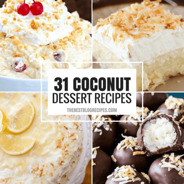 31 COCONUT DESSERT RECIPES