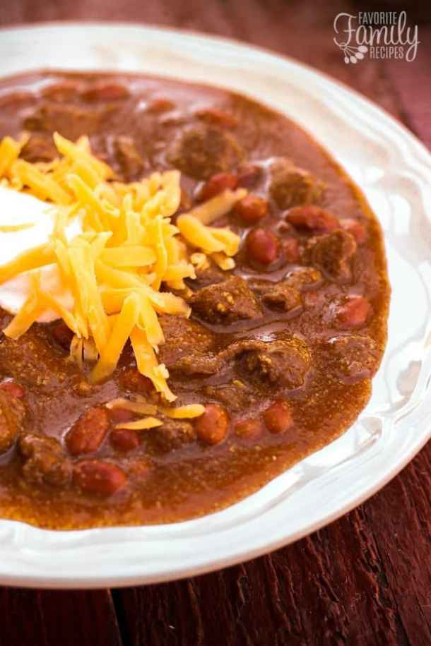 Texas Chili -- Part of our Old Fashioned Chili Recipes just like your grandma made!